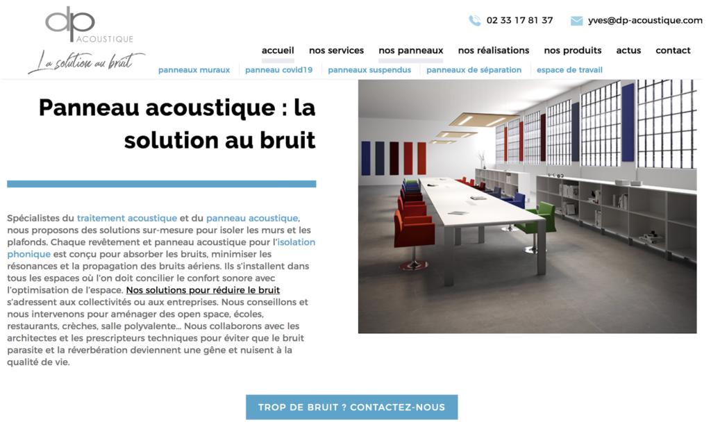 DP Acoustique site internet