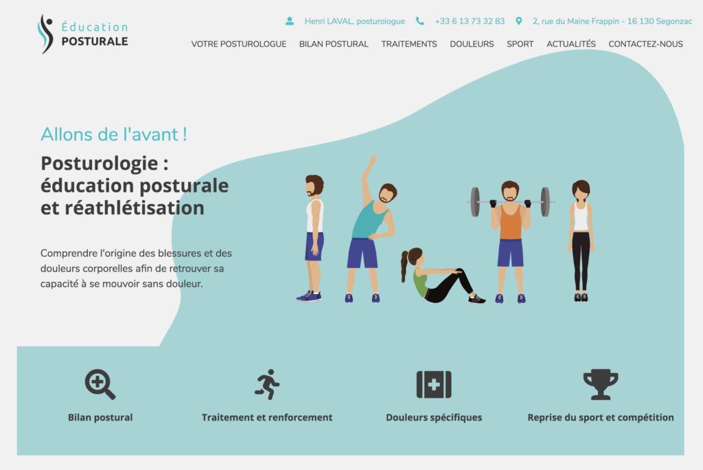 Site vitrine Éducation posturale