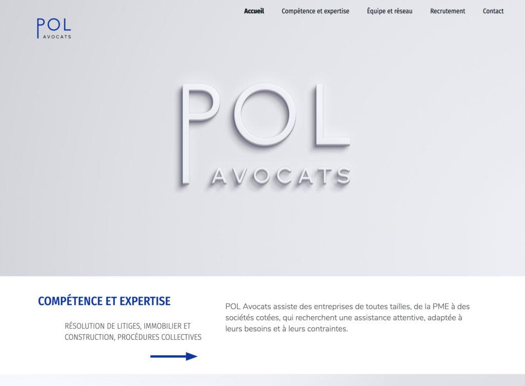 POL Avocats - site vitrine du cabinet