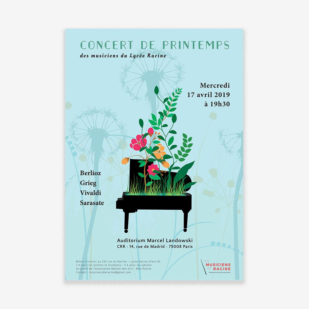 Création graphique d'affiches de concert